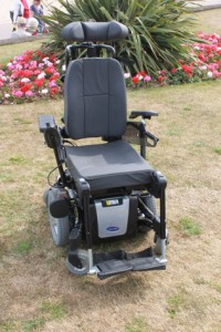 My wheelchair - an Invacare TDX