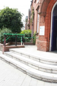 An excellent example of wheelchair access close by the main entrance.