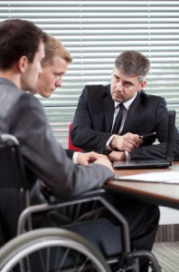 http://www.dreamstime.com/stock-image-disabled-man-his-co-worker-talking-boss-men-vertical-image43205541