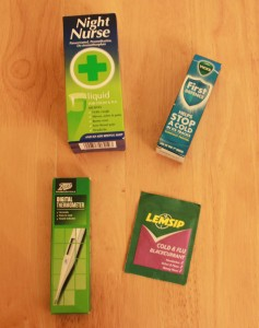 A selection of medications for common winter bugs